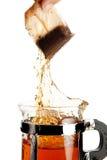 чай выплеска стоковая фотография