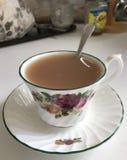 Чай в чашке фарфора Стоковые Фото