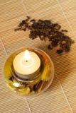 чай горящей свечки зеленый Стоковое фото RF
