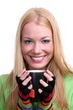 чай девушки чашки Стоковые Фотографии RF