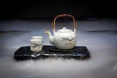 чай дракона установленный Стоковое Изображение