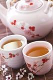 чай зеленого цвета установленный Стоковая Фотография