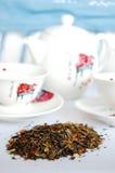 чай зеленого цвета установленный Стоковые Изображения RF