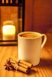 Чай зимы на деревянной предпосылке Стоковое Изображение RF