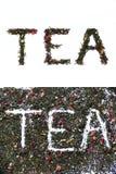 чай знака Стоковое Изображение