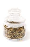 Чай изолированный в стеклянной чашке Стоковое Фото