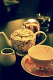Чай имбиря с комплектом меда Стоковое фото RF