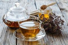 чай лимона меда горячий Напиток для больных людей с vitam Стоковое фото RF
