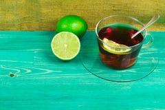 Чай лимон и известка Стоковые Изображения RF