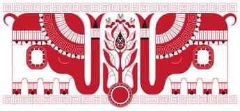 чай индейца слонов bush бесплатная иллюстрация