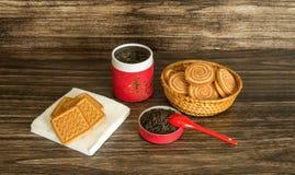 Чай и печенья Стоковые Фото