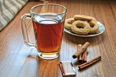 Чай и печенья Стоковое Изображение