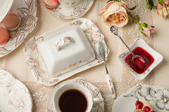 Чай и помадки Стоковое фото RF