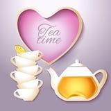 Чай и чайник Cof Стоковая Фотография