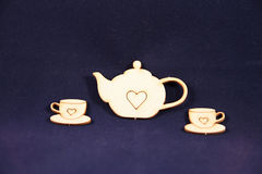 Чай и 2 чашки стоковые изображения rf