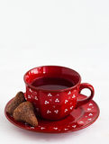 Чай и домодельная конфета Стоковые Фото