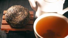 Чай китайский чай Вид Puer чая видеоматериал
