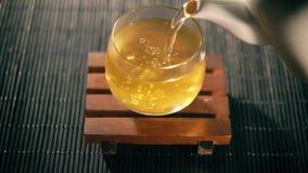 Чай китайский чай Вид Puer чая сток-видео