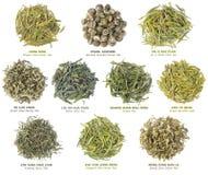 чай китайского собрания зеленый Стоковая Фотография RF