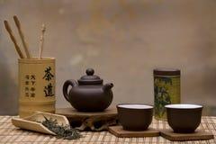 чай китайца установленный традиционный Стоковые Фото