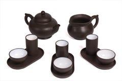 чай китайца церемонии установленный Стоковая Фотография RF
