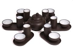 чай китайца церемонии установленный Стоковое Фото