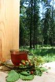 чай клубники стоковое фото rf