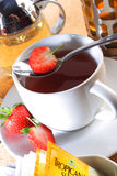 чай клубники стоковое изображение