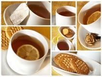 чай коллажа стоковые изображения rf