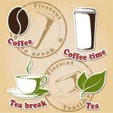 чай комплекта кофе иллюстрация вектора