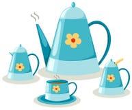 чай комплекта кофе Стоковое Изображение RF