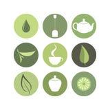 Чай Комплект значка иллюстрация вектора