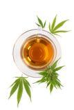 Чай конопли травяной стоковые фото