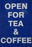 чай кофе открытый Стоковые Фотографии RF