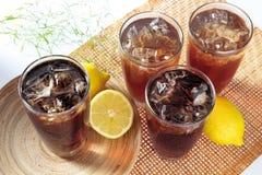 чай лимона льда Стоковое Изображение