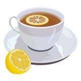чай лимона чашки Стоковые Фото