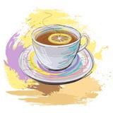 чай лимона чашки Стоковое Изображение