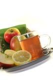 чай лимона яблока Стоковые Изображения