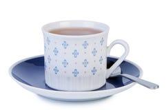 чай ложки поддонника чашки Стоковое фото RF