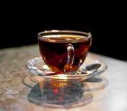 чай ложки чашки стеклянный стоковые фотографии rf