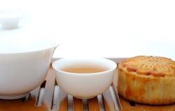 чай луны торта китайский Стоковое Изображение