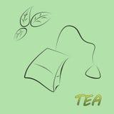 чай мешка Иллюстрация вектора