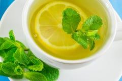 чай мяты лимона чашки Стоковые Фотографии RF