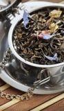 Чай надушенный чернотой стоковые изображения