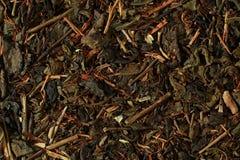 Чай на детали мешка реднины стоковая фотография rf