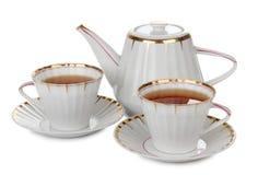 чай обслуживания обеда Стоковая Фотография