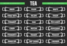 Чай печатает значки Стоковая Фотография RF