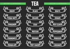 Чай печатает значки Стоковые Фото