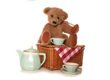 Чай пикника плюшевого медвежонка Стоковое Изображение RF