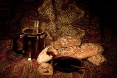 чай плодоовощей тортов Стоковые Фото